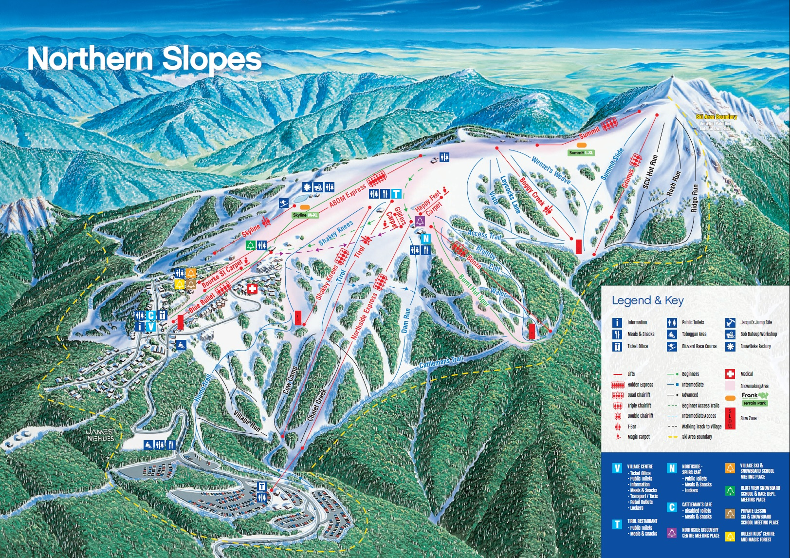 Mt Buller Map Maps | Mt Buller Reservations